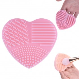Brush Egg Pembersih Kuas Make Up Model Hati - Pink - 2