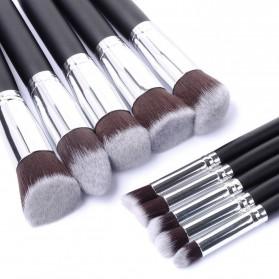 Anmor Make Up Brush 10 PCS - Black/Silver - 3