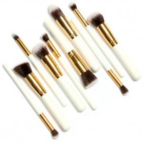 Anmor Make Up Brush 10 PCS - Black/Silver - 4