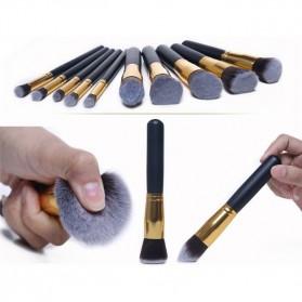 Anmor Make Up Brush 10 PCS - Black/Silver - 6