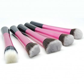 Beauty Kit Brush Make Up 5 Set - Rose - 2
