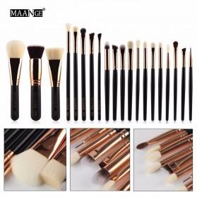 MAANGE Kuas Make Up Profesional 20 PCS - MAG5312 - Black - 2