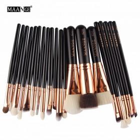 MAANGE Kuas Make Up Profesional 20 PCS - MAG5312 - Black - 3