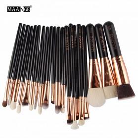 MAANGE Kuas Make Up Profesional 20 PCS - MAG5312 - Black - 6
