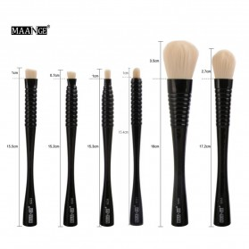MAANGE Kuas Make Up Profesional 6 PCS - MAG9304 - Black - 6