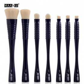 MAANGE Kuas Make Up Profesional 7 PCS - MAG9305 - Black - 1