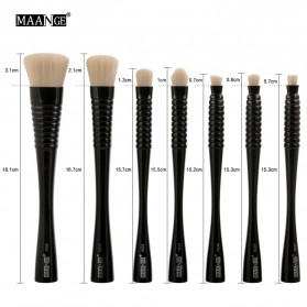MAANGE Kuas Make Up Profesional 7 PCS - MAG9305 - Black - 5