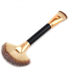 Brush Make Up 2 in 1 Powder Blush Contour 1PCS - Black Gold