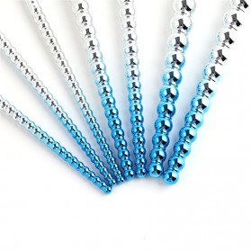 Kuas Make Up Profesional Pearl Design 7 PCS - Blue/White - 2