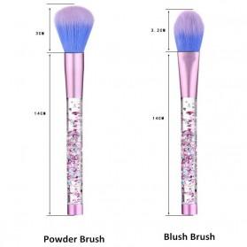 Kuas Make Up Profesional Transparent Fluid Handle 7 PCS - Pink - 4