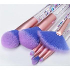 Kuas Make Up Profesional Transparent Fluid Handle 7 PCS - Pink - 6