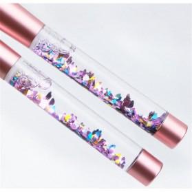 Kuas Make Up Profesional Transparent Fluid Handle 7 PCS - Pink - 7