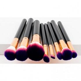 Kuas Aplikator Make Up Profesional 8 PCS - Purple/Pink - 4