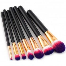 Brush Makeup - Kuas Aplikator Make Up Profesional 7 PCS - Purple/Pink