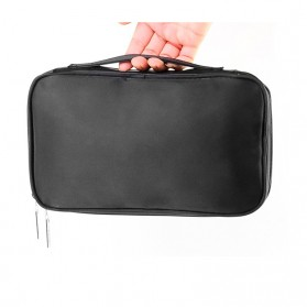 MSQ Tas Make Up Case Bag Nylon - Black - 2