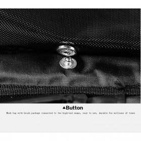 MSQ Tas Make Up Case Bag Nylon - Black - 7