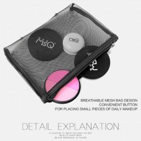 MSQ Tas Make Up Case Bag Nylon - Black - 9