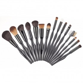 Make Up Brush Unique Shape 15 PCS - Black - 1