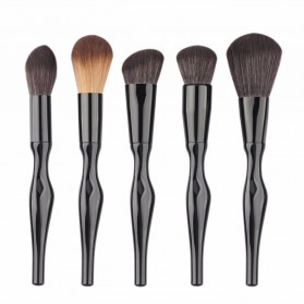 Make Up Brush Unique Shape 15 PCS - Black - 5