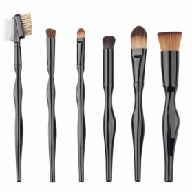 Make Up Brush Unique Shape 15 PCS - Black - 6