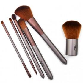 MSQ Make Up Brush Model Kabuki 6 PCS - Coffee - 2