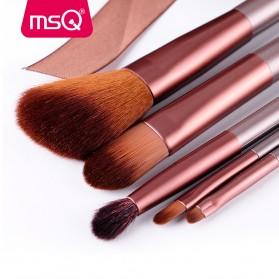 MSQ Make Up Brush Model Kabuki 6 PCS - Coffee - 3