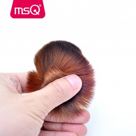MSQ Make Up Brush Model Kabuki 6 PCS - Coffee - 4