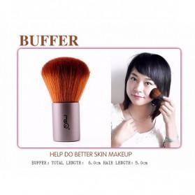MSQ Make Up Brush Model Kabuki 6 PCS - Coffee - 5
