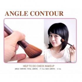 MSQ Make Up Brush Model Kabuki 6 PCS - Coffee - 6