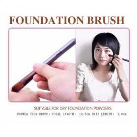 MSQ Make Up Brush Model Kabuki 6 PCS - Coffee - 7
