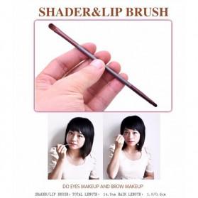 MSQ Make Up Brush Model Kabuki 6 PCS - Coffee - 10