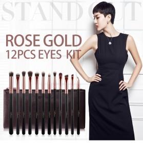 MSQ Make Up Brush Soft Synthetic 12 PCS - Black - 2