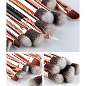 MSQ Make Up Brush Soft Synthetic 12 PCS - Black - 3