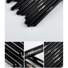 MSQ Make Up Brush Soft Synthetic 12 PCS - Black - 4
