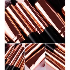 MSQ Make Up Brush Soft Synthetic 12 PCS - Black - 5