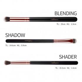 MSQ Make Up Brush Soft Synthetic 12 PCS - Black - 7