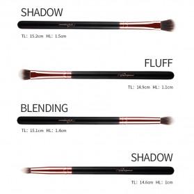 MSQ Make Up Brush Soft Synthetic 12 PCS - Black - 8
