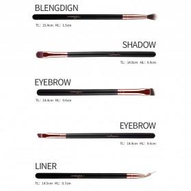 MSQ Make Up Brush Soft Synthetic 12 PCS - Black - 9