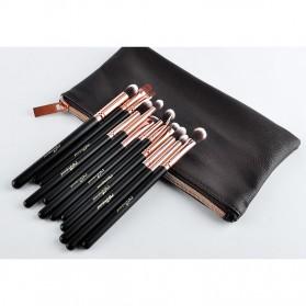 MSQ Make Up Brush Soft Synthetic 12 PCS - Black - 10