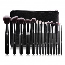MSQ Make Up Brush Synthetic Hair 15 PCS - Black