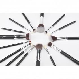 MSQ Make Up Brush Synthetic Hair 15 PCS - Black - 7