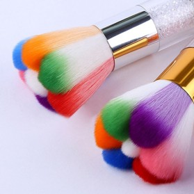 Kuas Make Up Profesional Flower Rainbow - Mix Color - 3