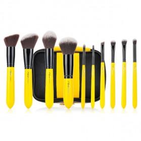 MSQ Make Up Brush Pro Model 10 PCS - Yellow