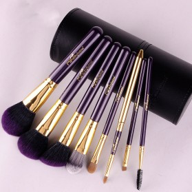 MSQ Make Up Brush Model Barrel 8 PCS - Black