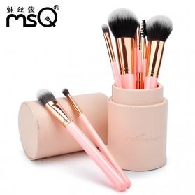 MSQ Make Up Brush Model Barrel 8 PCS - Black - 2