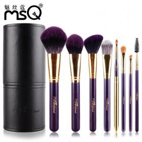 MSQ Make Up Brush Model Barrel 8 PCS - Black - 3