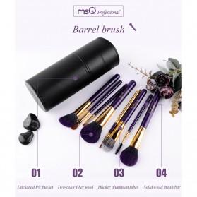 MSQ Make Up Brush Model Barrel 8 PCS - Black - 9