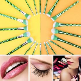 Make Up Brush Model Bamboo 10 PCS - Green - 3