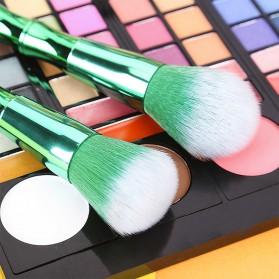 Make Up Brush Model Bamboo 10 PCS - Green - 5
