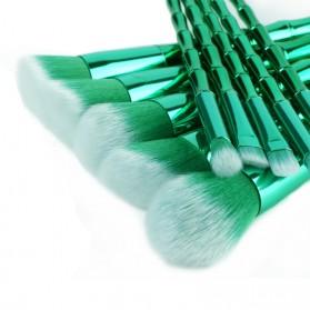 Make Up Brush Model Bamboo 10 PCS - Green - 7
